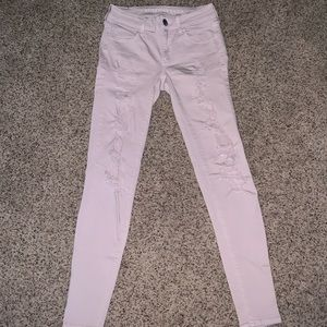 Ripped jean jeggings